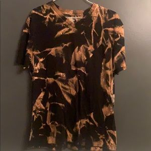 Custom Bleached Merona Size M V Neck T-shirt